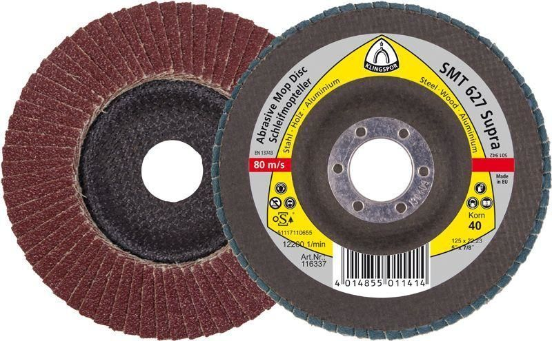 Лепестковый тарельчатый круг SMT627 125*22,23мм зерно 120 (116341)