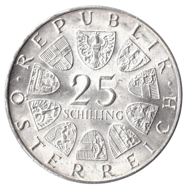 25 шиллингов 1969 год писатель  Петер Розеггер, Австрия. AU