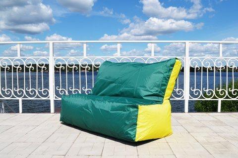 Кресло-мешок «Диван» Зелено-желтый