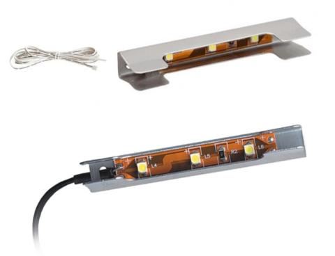 Дополнительный модуль Виктория №1 подсветка голубой свет (комплект на 1 полку) Ижмебель