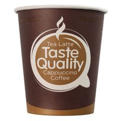 Стакан одноразовый TasteQuality бумажный коричневый 200/250 мл 50 штук в упаковке