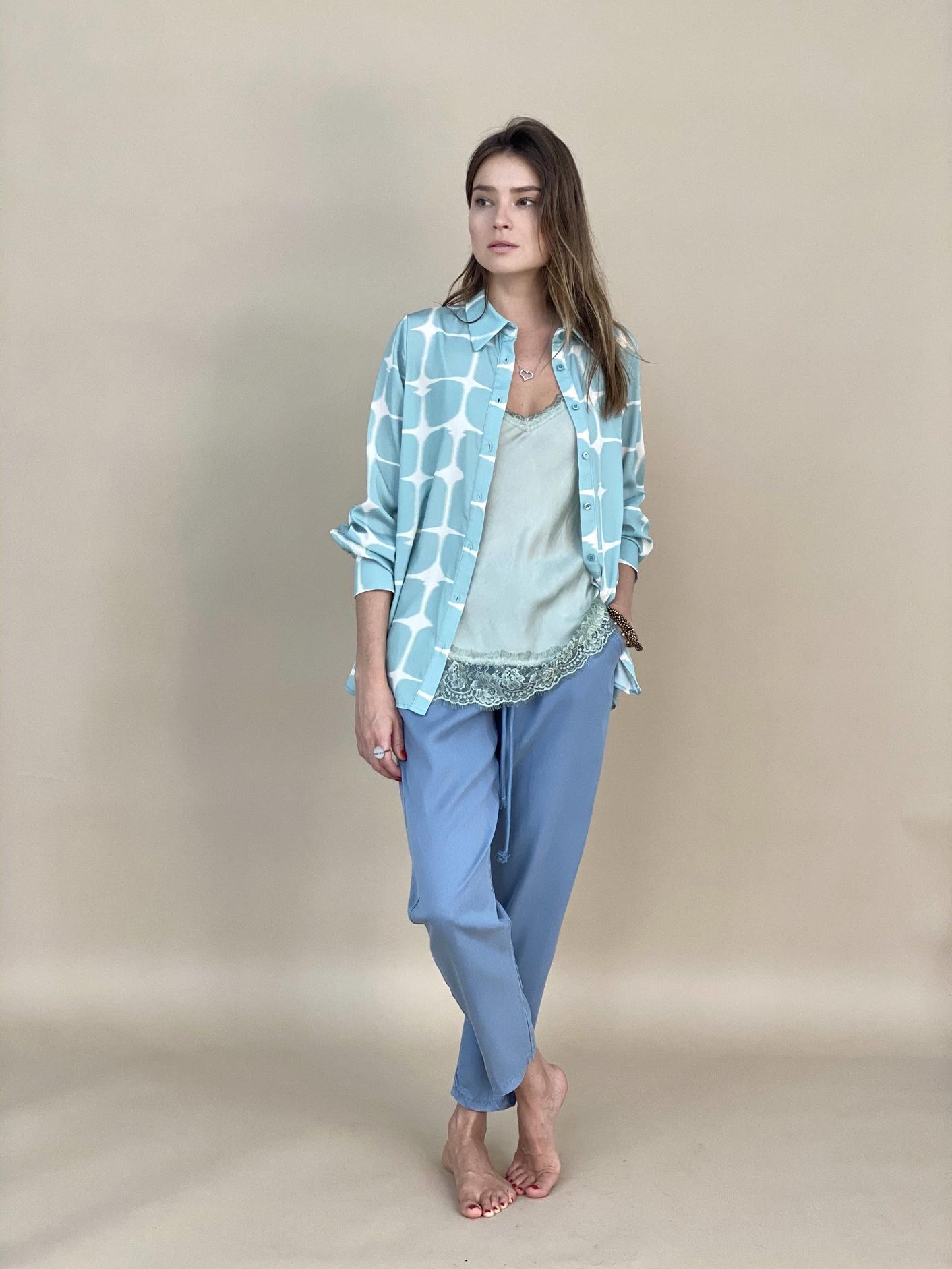 Рубашка, LUMINA, L1007 (мята)