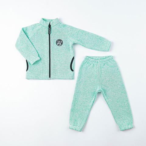 Fleece knitted sweatsuit - Mint