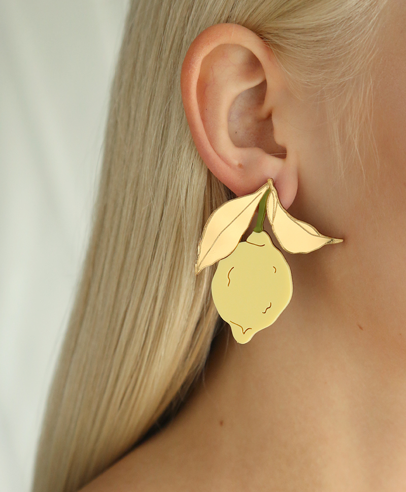 Серьги Lemon Earrings Yellow