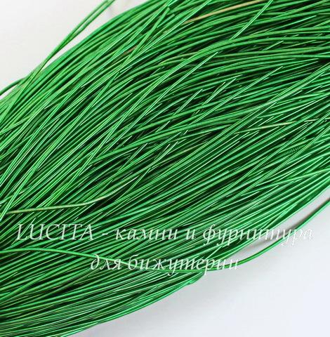 Канитель для вышивания гладкая 1 мм (цвет - темно-зеленый)