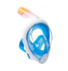 Маска для плавания Free Breath голубая (размер L/XL)