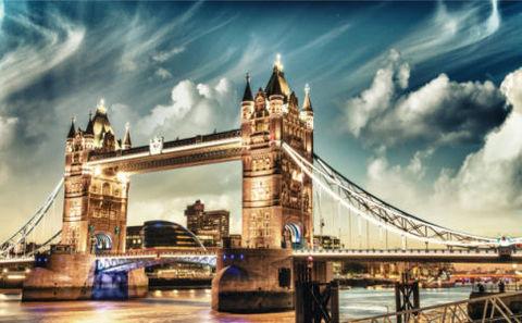 Картина раскраска по номерам 30x40 Мост в облаках