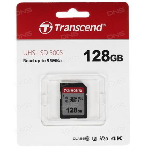Карта памяти SDXC 128GB Transcend 300S UHS-I U3