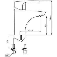 Cмеситель KAISER Luxor 32011 для раковины схема