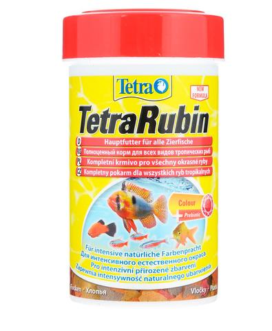 TetraRubin корм в хлопьях для улучшения окраса всех видов рыб 250мл +20% бесплатно