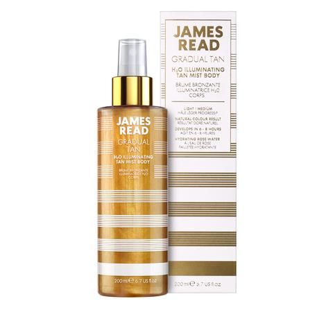 James Read Gradual Tan H2O Illuminating Tan Mist Спрей для тела с золотыми частицами