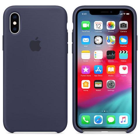 iPhone XS Max Silicone Case Midnight Blue