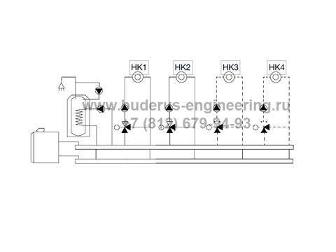 Система управления Buderus Logamatic MC110 схема