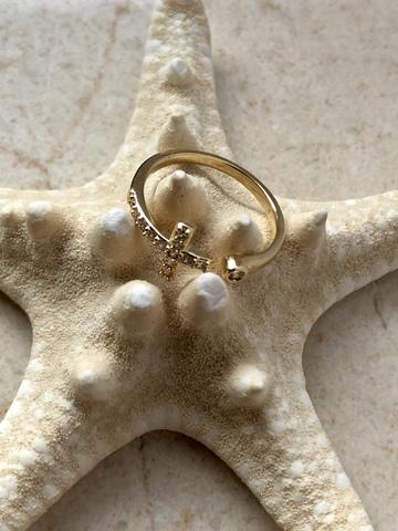 Кольцо Кристафор, позолота