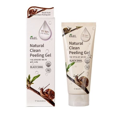 Пилинг-скатка для лица с муцином черной улитки Ekel Black Snail Natural Clean Peeling Gel