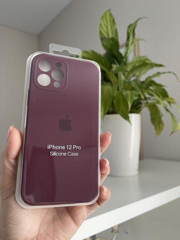 iPhone 12 Pro Max Silicone Case Full Camera /plum/