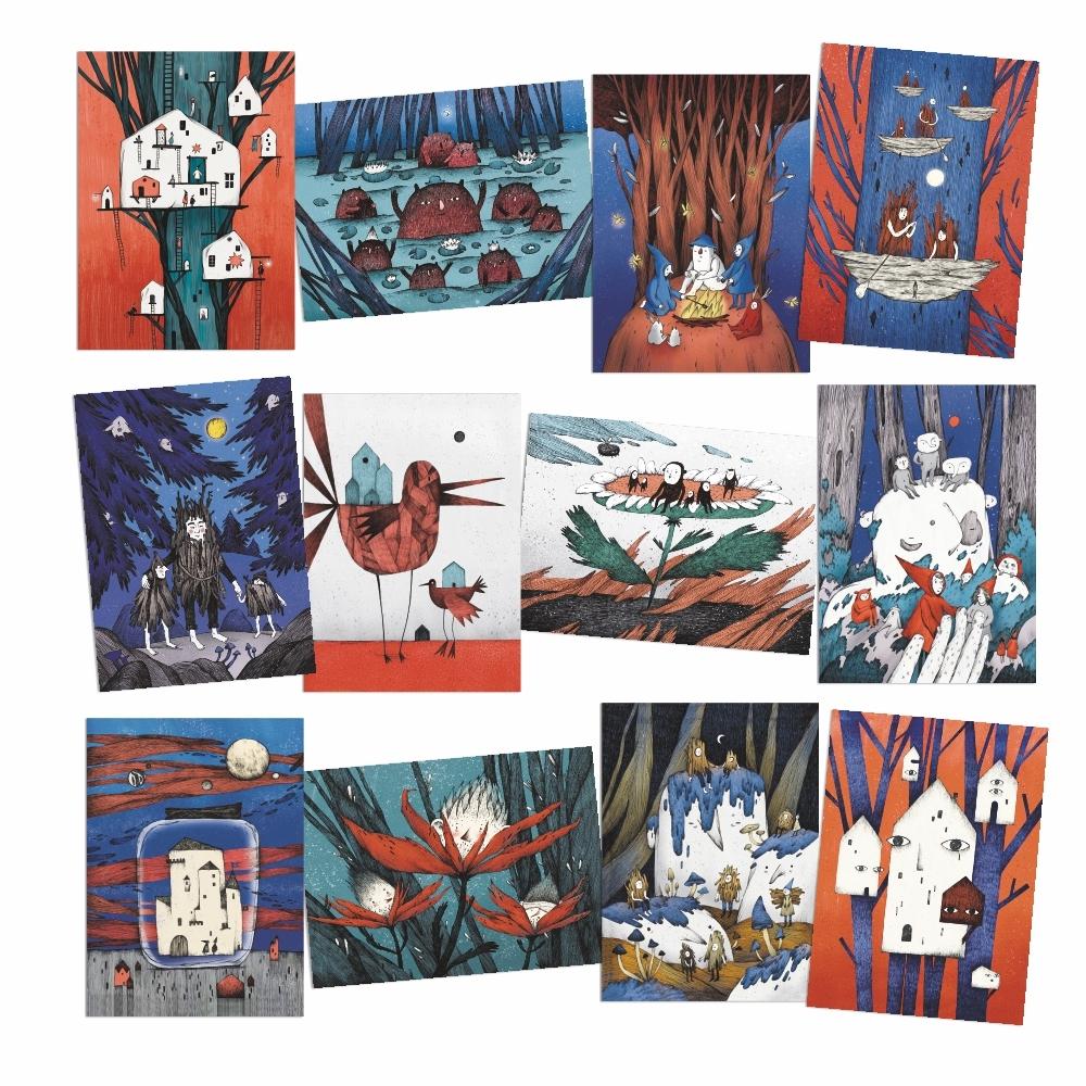 А. Фадеева. Набор почтовых открыток