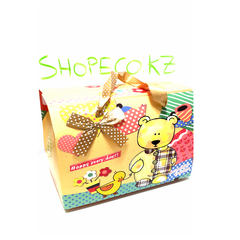 Подарочная коробка, Мишка, 19,5x13x19см