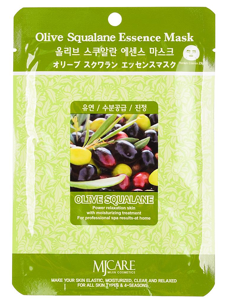 MIJIN Маска тканевая для лица олива Olive Squalane Essence Mask МЖ81.jpg