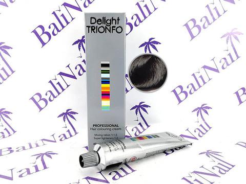 TRIONFO 1-1 стойкая крем-краска для волос Иссиня черный, 60 мл