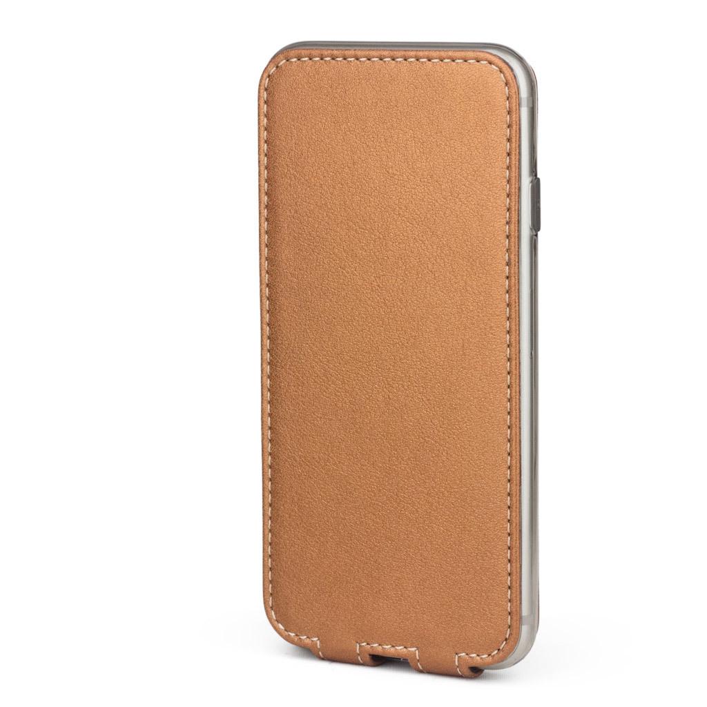 Чехол для iPhone 7 Plus из натуральной кожи теленка, медного цвета