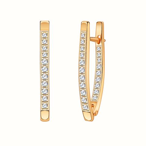 2317 - Серьги из золота с фианитами
