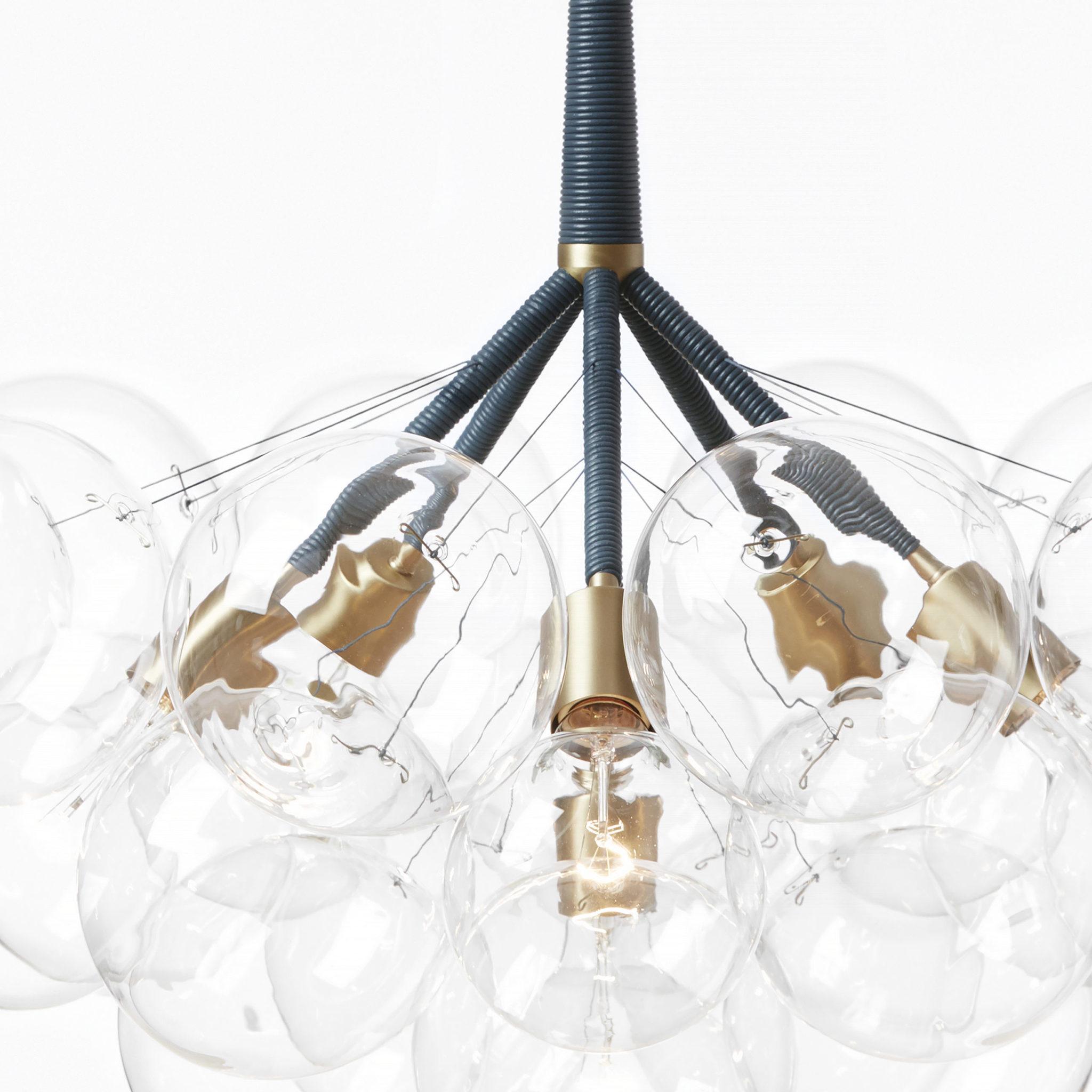 Подвесной светильник копия Bubble Jumbo-36 by Pelle (черный)
