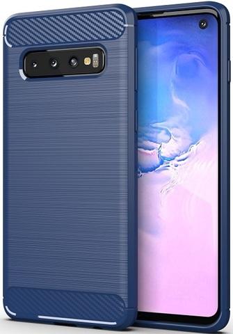 Чехол для Samsung Galaxy S 10 цвет Blue (синий), серия Carbon от Caseport