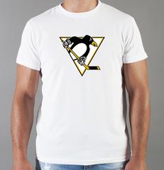 Футболка с принтом НХЛ Питтсбург Пингвинз (NHL Pittsburgh Penguins) белая 002