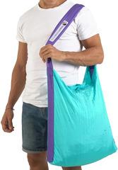 Сумка складная Ticket to the Moon Eco Bag Large (30л.) Turquoise/Purple