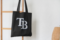 Сумка-шоппер с принтом Тампа-Бэй Лайтнинг (NHL Tampa Bay Lightning) черная 002