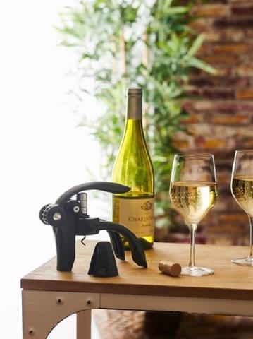 Штопор для вина пластиковый, механический, артикул 200510, цвет Dark, Серия Baltaz