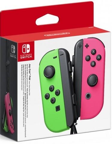 Набор контроллеров Joy-Con (Nintendo Switch, неоновый зеленый / неоновый розовый)