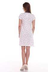 Мамаландия. Сорочка для беременных и кормящих с кнопками короткий рукав, звезды/молочный вид 4