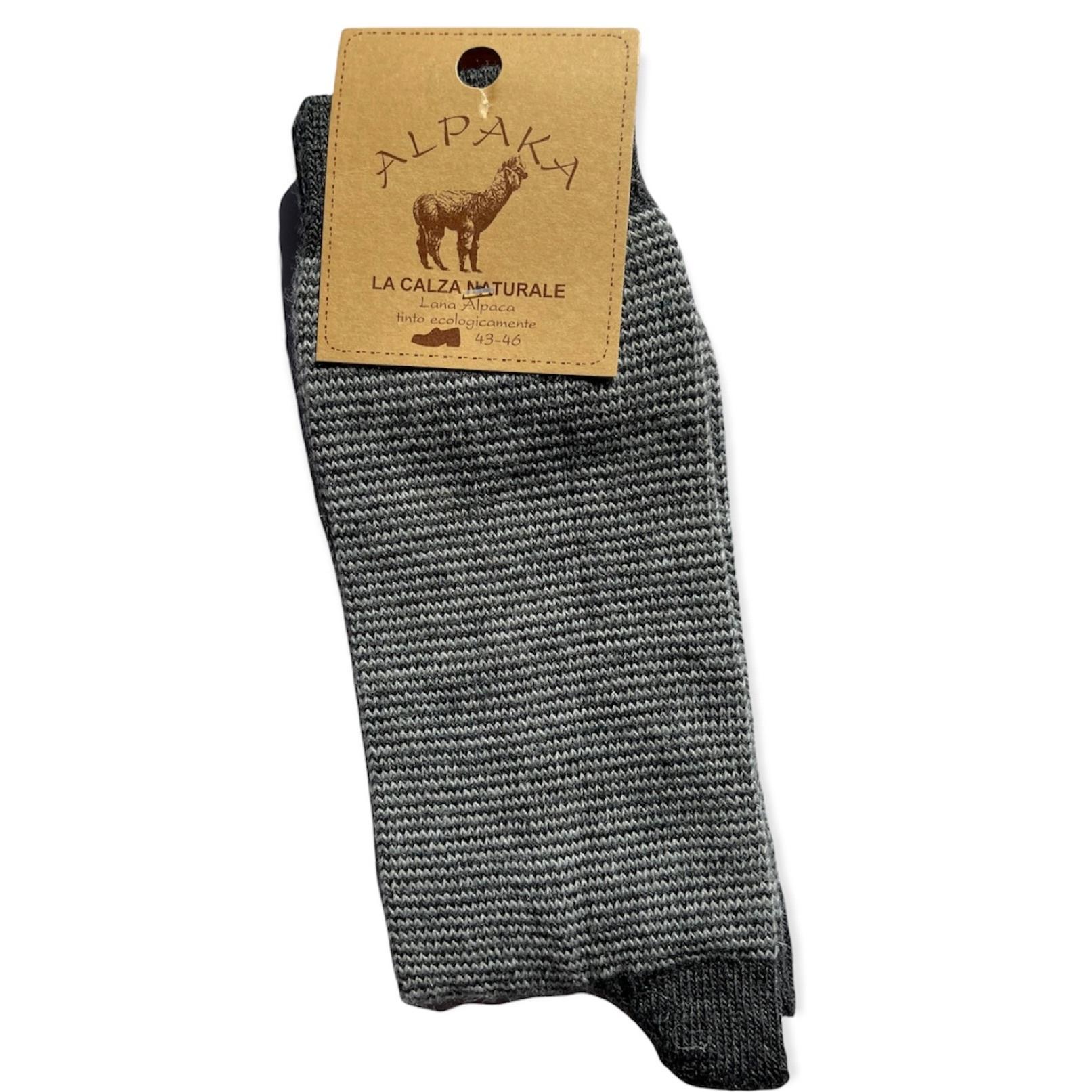 Носки мужские 100% шерсть, серый , Италия