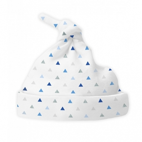 Шапочка Knotted Hat Tiny Triangle Shimmer Blue