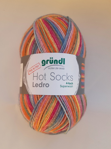 Купить пряжу для носков Gruendl Hot Socks Ledro 02