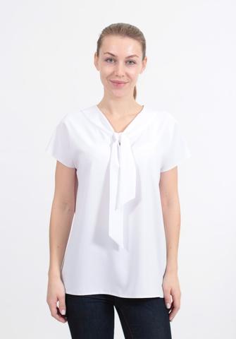 Блузка Elite 2413 галстук однотон к/р