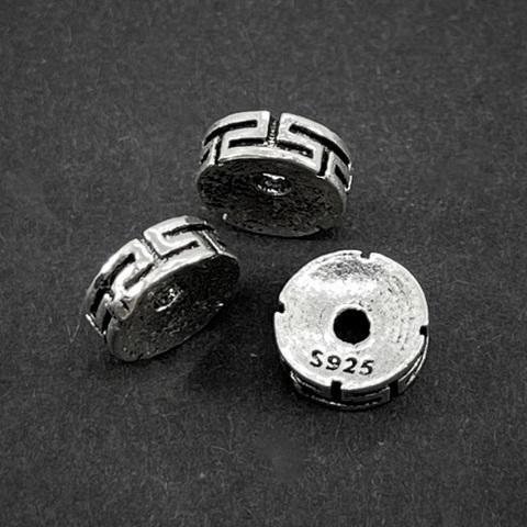 Рондель разделитель Греческий 8х2,8 мм серебро 925