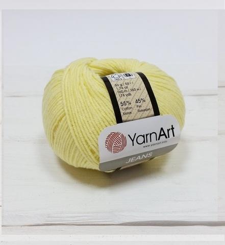 Пряжа YarnArt JEANS - (67-светло-желтый)