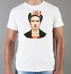 Футболка с принтом Фрида Кало (Frida Kahlo) белая 003