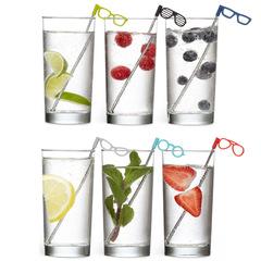 Соломинки для коктейля Glasses, 6 шт, фото 1
