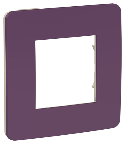 Рамка на 1 пост. Цвет Лиловый/бежевый. Schneider Electric Unica Studio. NU280215