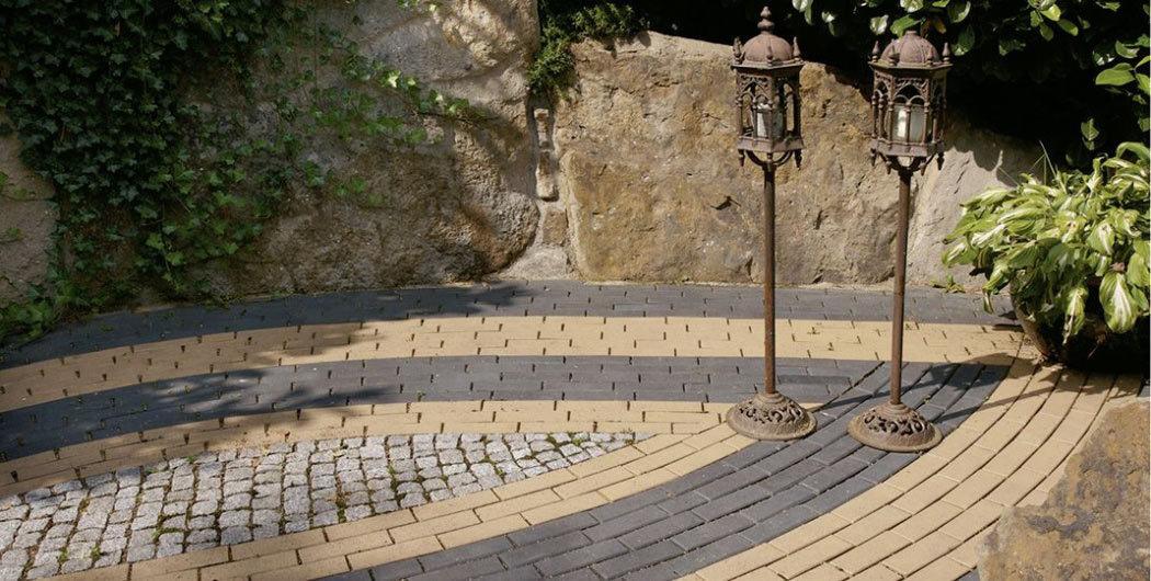 ABC Lederfarben-nuanciert, 200x100x40 - Тротуарная клинкерная брусчатка