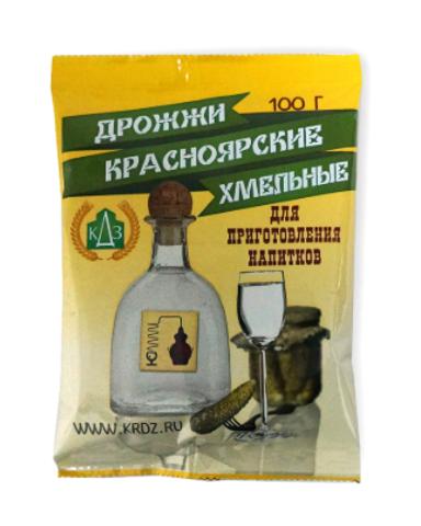 Дрожжи Красноярские хмельные, пачка 100 гр.