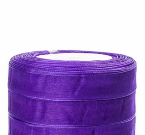 Лента органза (размер:15мм х 25 ярдов) Цвет: фиолетовый