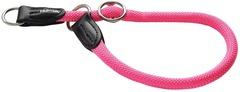 Ошейник-удавка для собак Hunter Freestyle Neon 55/10, нейлоновая, розовый неон