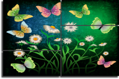 "Модульная картина ""Абстракция бабочки"""