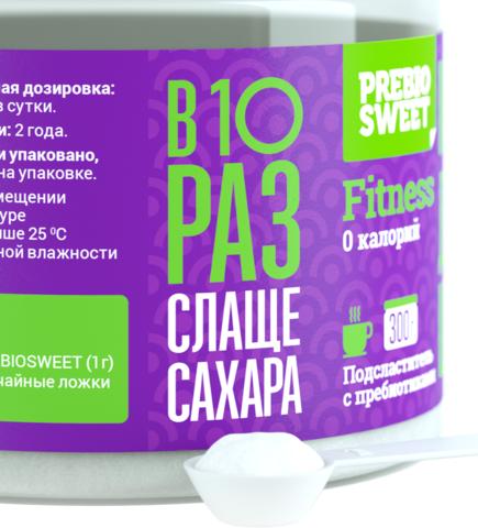 Сахарозаменитель Prebiosweet Fitness, банка 300 г