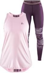 Элитный комплект для бега Craft Lux женский - майка + тайтсы